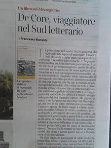 Francesco Durante Il corriere del Mezzogiorno1