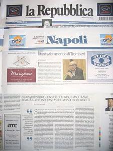 Recensione del libro Magellano e il magizete di Guido Trombetti uscita su La Repubblica Napoli 16 11 2014
