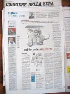 Anticipazione primi tre capitoli del libro Magellano e il magizete di Guido Trombetti Corriere del Mezzogiorno Corriere della Sera 16 - 10 - 2014